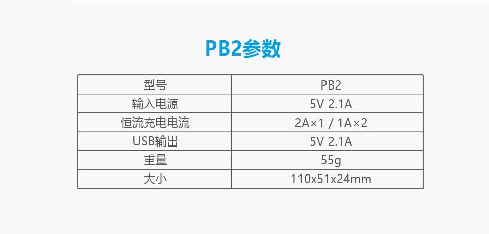 PB2智能充电器